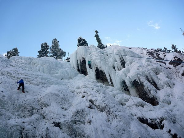 Ice climbing at the Ouray Ice Park