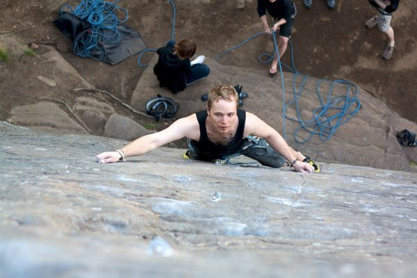 Rock climbing increases your strength and confidence