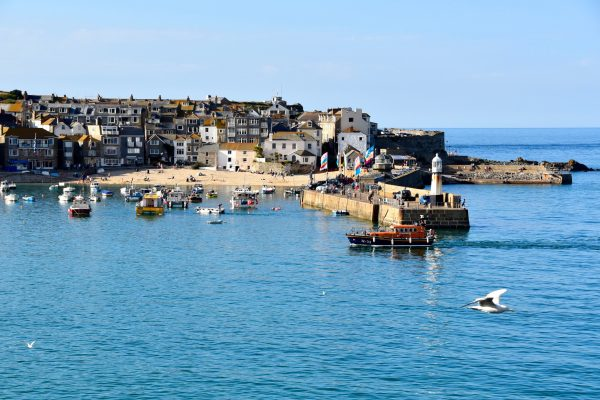 St. Ives's main harbor at high tide. Photo by Noelle Salmi